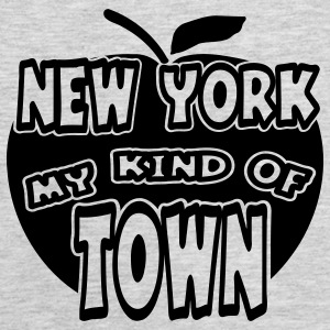 Heather grey New York, My Kind Of Town With Apple, 1 Color Sweatshirts - Men's Premium Tank