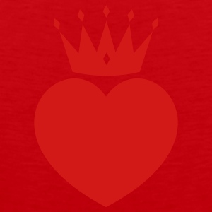 Red heart crown Other - Men's Premium Tank