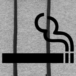 Slate Cigarette - smoking T-Shirts - Colorblock Hoodie