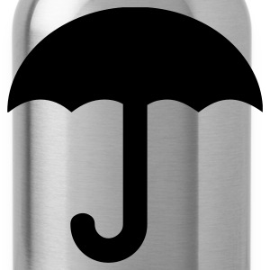 Red umbrella-rain-weather-storm T-Shirts - Water Bottle