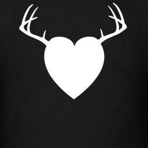 Chocolate HEART ANTLERS Long Sleeve Shirts - Men's T-Shirt