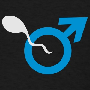 Black male symbol and sperm sexist Other - Men's T-Shirt