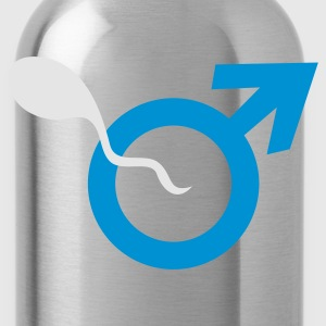 Black male symbol and sperm sexist Other - Water Bottle