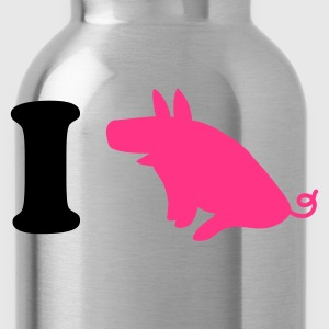Chocolate/tan i heart pork ham bacon pig piggy! T-Shirts - Water Bottle