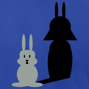 Royal blue bunny helmet (2c) Hoodies - Men's T-Shirt by American Apparel