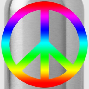 peace and love - Water Bottle
