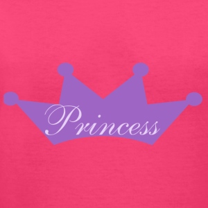 Princess Crown with pink sweatshirt - Women's V-Neck T-Shirt