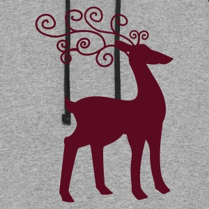 Gray reindeer cool Women's T-Shirts - Colorblock Hoodie