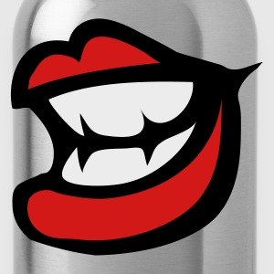 Gray smile lips with small sharp teeth Women's T-Shirts - Water Bottle