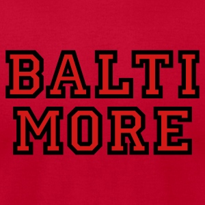 Baltimore Sweatshirt College Style - Men's T-Shirt by American Apparel