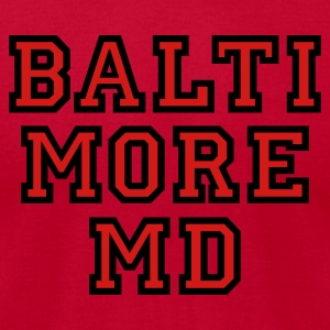 Baltimore MD Hoodie College Style - Men's T-Shirt by American Apparel
