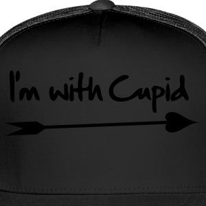 Hot pink I'm with cupid --- Eco-Friendly Tees - Trucker Cap