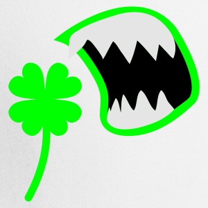 White/black St Patricks Day clover with an OPEN MOUTH ! T-Shirts - Trucker Cap