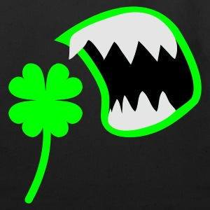 White/black St Patricks Day clover with an OPEN MOUTH ! T-Shirts - Eco-Friendly Cotton Tote