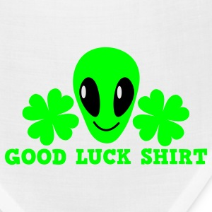 White/black Good luck shirt with alien cute ! St Patricks Day T-Shirts - Bandana