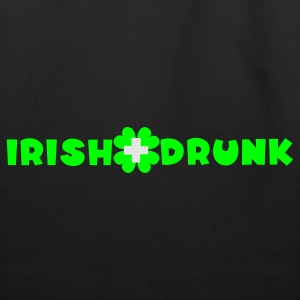 White/black Irish and drunk St Patricks Day with clover T-Shirts - Eco-Friendly Cotton Tote