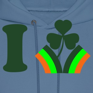 Royal blue i heart ireland with rainbow flag St Patricks Day Tribute T-Shirts - Men's Hoodie