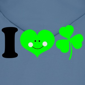 Royal blue i heart ireland cute smile with clover for St Patricks Day! T-Shirts - Men's Hoodie
