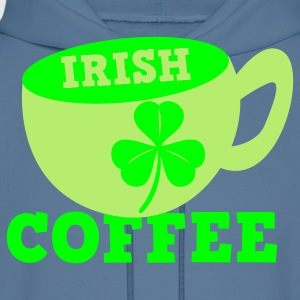 Royal blue Irish Coffee with clover leaf St Patricks Day Tribute T-Shirts - Men's Hoodie