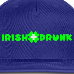Royal blue Irish and drunk St Patricks Day with clover T-Shirts - Snap-back Baseball Cap