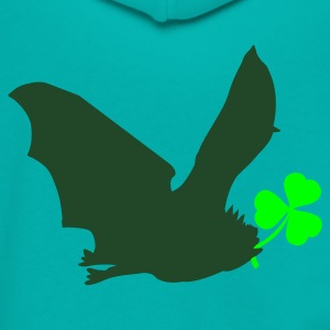 Teal irish luck with flying bat St Patricks Day Tribute Women's T-Shirts - Unisex Fleece Zip Hoodie by American Apparel