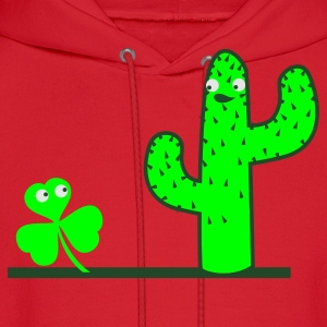 Kelly green cactus compared to a clover St Patricks Day Tribute Women's T-Shirts - Men's Hoodie
