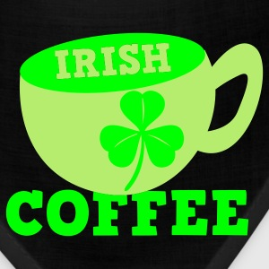 Kelly green Irish Coffee with clover leaf St Patricks Day Tribute Women's T-Shirts - Bandana
