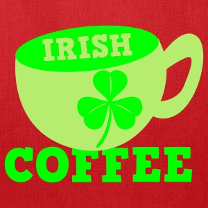 Kelly green Irish Coffee with clover leaf St Patricks Day Tribute Women's T-Shirts - Tote Bag