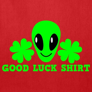 Kelly green Good luck shirt with alien cute ! St Patricks Day Women's T-Shirts - Tote Bag