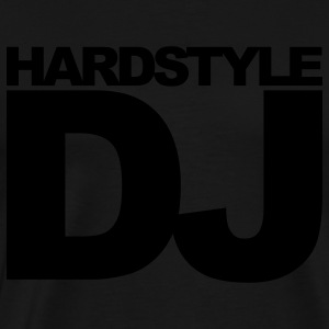 Black Hardstyle DJ Hoodies - Men's Premium T-Shirt