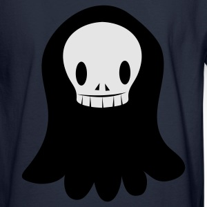 Ash  funky SKULL with floating ghost shape creepy! Zip Hoodies/Jackets - Men's Long Sleeve T-Shirt