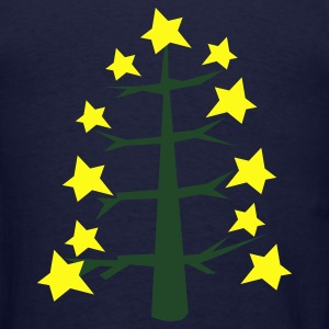 Ash  COOL trendy skinny Christmas tree with star baubles Zip Hoodies/Jackets - Men's T-Shirt