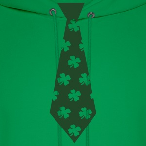 Kelly green Clover Tie T-Shirts - Men's Hoodie