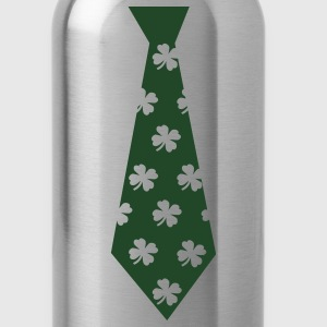 Kelly green Clover Tie T-Shirts - Water Bottle