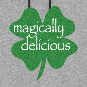 Gray magically delicious Women's T-Shirts - Colorblock Hoodie