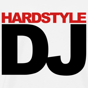 White Hardstyle DJ V2 Hoodies - Men's Premium T-Shirt