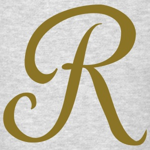 Brown R - Letter Long Sleeve Shirts - Men's T-Shirt
