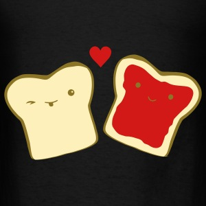 Black toast in love Bags  - Men's T-Shirt