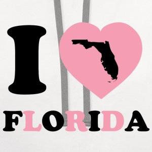 I Love Florida - Contrast Hoodie