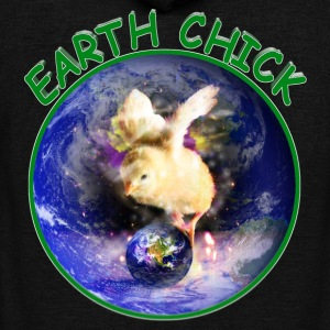 EARTH CHICK - Unisex Fleece Zip Hoodie by American Apparel