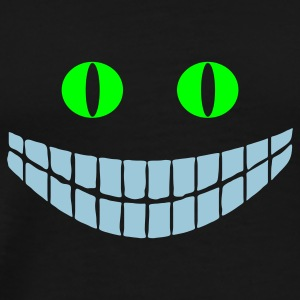 Black Cheshire cat (2c) Bags  - Men's Premium T-Shirt