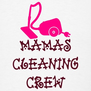 White mamas cleaning crew (2c) Buttons - Men's T-Shirt
