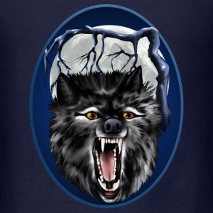 Big Bad Wolf Oval - Men's T-Shirt
