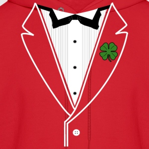 Ladies Shamrock Tux in American Apparel Slim Fit - Men's Hoodie