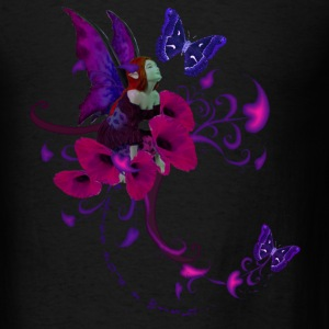 Black A Kiss And A Wish Fairie Sweatshirts - Men's T-Shirt
