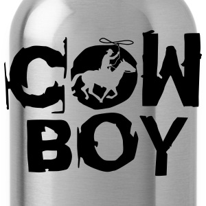 Black cowboy_c_1c T-Shirts - Water Bottle