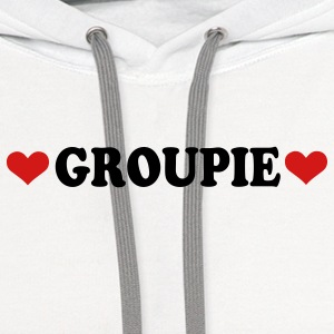 White Groupie - Band - Fan Buttons - Contrast Hoodie