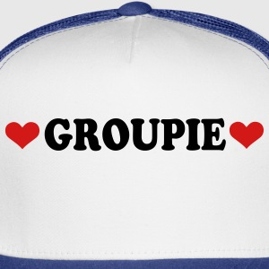 White Groupie - Band - Fan Buttons - Trucker Cap
