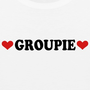 White Groupie - Band - Fan Buttons - Men's Premium Tank