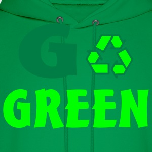 Bright green go green T-Shirts - Men's Hoodie
